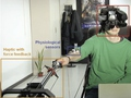 [A fully immersive set-up for remote interaction and neurorehabilitation based on virtual body ownership]